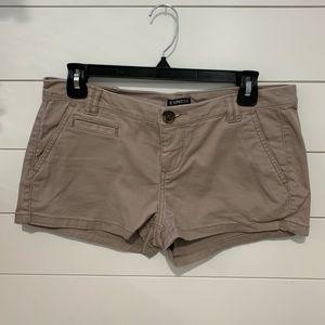 Express shorts, tan